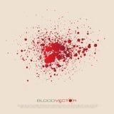 O sangue do vetor chapinha isolado, projeto Fotos de Stock Royalty Free