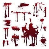 O sangue espirra Foto de Stock