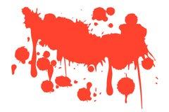 O sangue salpica o fundo branco ilustração do vetor