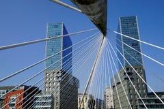"""O """"of Santiago Calatrava de Zubizuri do """" da ponte, fotografia de stock royalty free"""