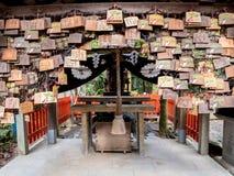 O santuário coberto com reza imagens de stock royalty free