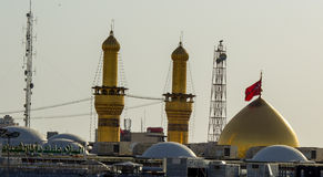 O santuário da imã Hussein em Karbala imagem de stock