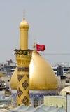 O santuário da imã Hussein em Karbala imagens de stock