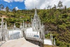 O santuário de Las Lajas telha Ipiales Colômbia Imagem de Stock Royalty Free