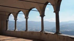 O santuário de St Patrick San Patrizio, Colzate, Bergamo, Itália video estoque