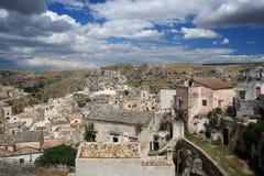 O Sassi de Matera, Italy sul. Fotos de Stock Royalty Free