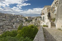O Sassi de Matera, Italy sul. Foto de Stock