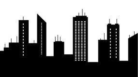 O scape da cidade mostra em silhueta o ícone Elemento da ilustração das arquiteturas da cidade Os sinais e o ícone dos símbolos p ilustração royalty free