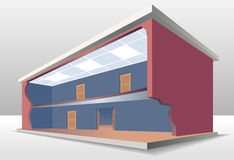 O seção transversal da construção Imagem de Stock