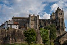 O SE da catedral de Porto faz Porto, Portugal foto de stock