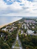 O seacoast de Sopot, Polônia imagens de stock