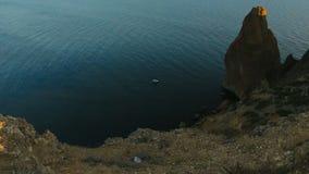 O seascape crimeano com altura vídeos de arquivo