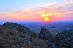O seascape no nascer do sol, Tuzla, Romênia Imagem de Stock