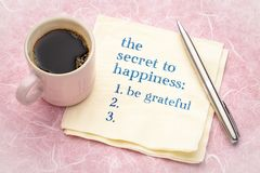 O segredo à felicidade foto de stock royalty free