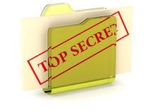O segredo arquiva a ilustração 3D Fotografia de Stock Royalty Free