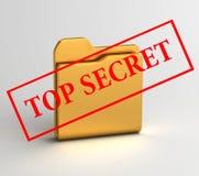 O segredo arquiva a ilustração 3D Foto de Stock Royalty Free