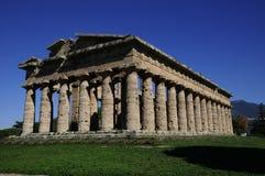 O segundo templo de Hera, Paestum, Itália Imagens de Stock Royalty Free