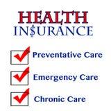 O seguro de saúde beneficia componentes ilustração do vetor