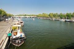 O Seine em Paris Imagens de Stock Royalty Free