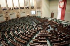O Sejm - o parlamento polonês imagens de stock