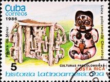 O selo de porte postal mostra a cultura de Costa-Rica do exemplo imagens de stock