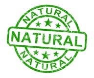 O selo natural mostra o produto genuíno puro ilustração stock