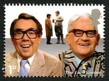 O selo postal dois Ronnies Reino Unido Fotografia de Stock Royalty Free