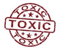 O selo tóxico mostra a substância venenosa e nociva ilustração stock