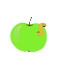 Sem-fim na maçã Imagens de Stock
