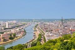 O Sena em Rouen Imagem de Stock Royalty Free