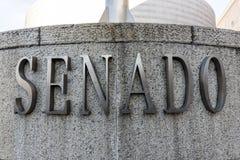 O Senado (Senado) no Madri, Espanha Fotos de Stock Royalty Free