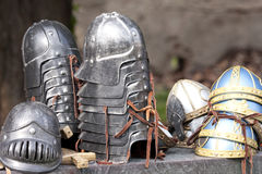 O senhor da fantasia dos anéis: Capacetes de Gondor foto de stock royalty free