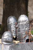 O senhor dos anéis: Capacetes de Gondor fotografia de stock