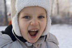 O sentimento do menino gosta de um tigre Imagem de Stock Royalty Free