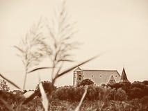 O Sepia tonificou a imagem da catedral de Verden Aller, Baixa Saxónia, Alemanha fotografia de stock royalty free