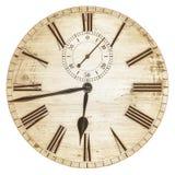 O Sepia tonificou a imagem de uma face do relógio velha fotografia de stock