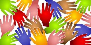 O ser humano entrega o teste padrão colorido Imagem de Stock Royalty Free