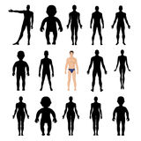 O ser humano mostra em silhueta a figura do molde Fotos de Stock