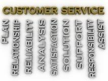 o serviço ao cliente da imagem 3d emite o fundo da nuvem da palavra do conceito Fotos de Stock Royalty Free