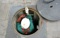 O sewerman Fotografia de Stock