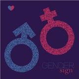 O sexo canta Ícone da igualdade de gênero Símbolo do homem e da mulher Fotografia de Stock