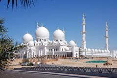 O Sheikh zayed a mesquita, Abu Dhabi, uae, Médio Oriente fotografia de stock