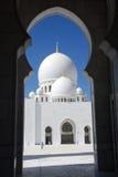 O Sheikh zayed a mesquita, Abu Dhabi, uae, Médio Oriente Imagem de Stock Royalty Free