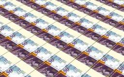 O shekel israelita fatura o fundo das pilhas Imagens de Stock Royalty Free