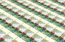 O shekel israelita fatura o fundo das pilhas Imagens de Stock