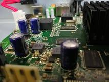 O shipset de Mainboard do cartão-matriz circuita a placa de circuito gráfica fotografia de stock