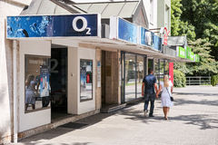 O2 shop Stock Photos