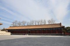 O sideroom do salão ancestral na dinastia de Qing Fotografia de Stock Royalty Free