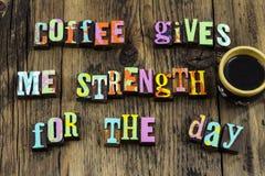 O significado da ruptura do copo de café aprecia a força do tempo do dia imagem de stock