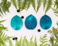 O silicone molda para Foamiran de cores e de texturas diferentes Fotografia de Stock